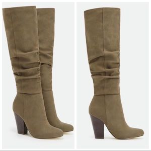 Just Fab Karlana Wide Calf Knee Boots